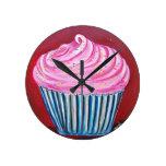 Pink Cupcake Clock
