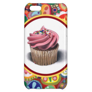 Pink Cupcake Colorful iPhone 5C Case