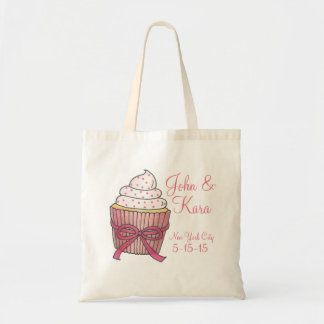 Pink Cupcake Cupcakes Personalized Wedding Tote