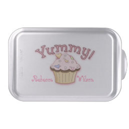 Pink Cupcake Custom Covered Baking Pan