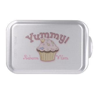 Pink Cupcake Custom Covered Baking Pan