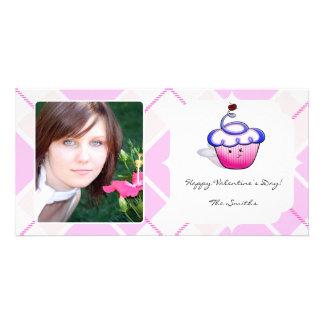 Pink Cupcake Cutie Valentine Photo Card