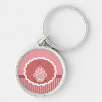 Pink Cupcake Design Keychain