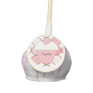 Pink Cupcake Dots Cake Pops