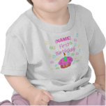 Pink Cupcake First Birthday Customized T-shirts