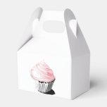 Pink Cupcake Gable Box Wedding Favor Boxes