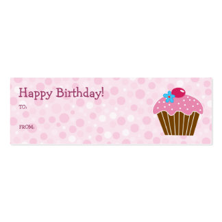 Pink Cupcake Gift Card Double-Sided Mini Business Cards (Pack Of 20)