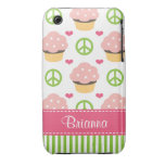Pink Cupcake iPhone 3 Case-Mate Barely There iPhone 3 Case