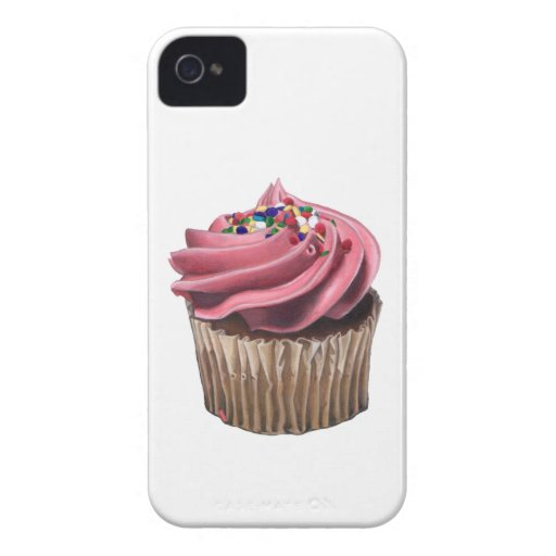 Pink Cupcake iPhone 4 Case by Case-Mate