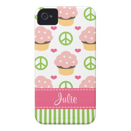 Pink Cupcake iPhone 4 Case-Mate Barely There Cover