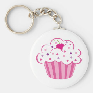 Pink Cupcake Keychain