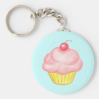 Pink Cupcake Keyring Keychain