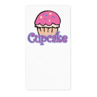 Pink Cupcake Shipping Labels