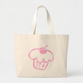 pink cupcake large tote bag