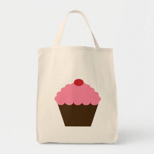 Pink Cupcake Love Grocery Tote Bag