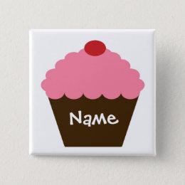 Pink Cupcake Love Pinback Button