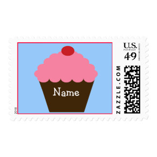 Pink Cupcake Love Stamp