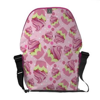 Pink Cupcake Medium Messenger Bag