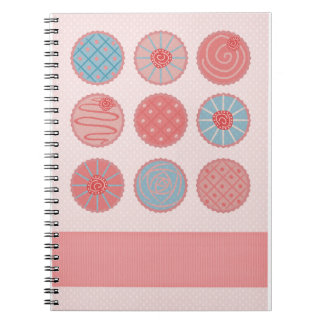 Pink Cupcake Spiral Note Books