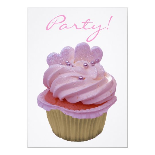 Pink Cupcake Party Invitation