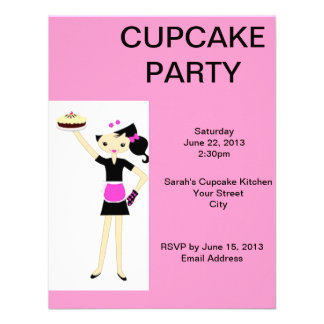 Pink Cupcake Party Invite