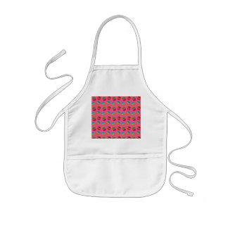 Pink cupcake pattern kids' apron