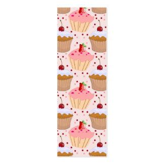 Pink Cupcake Pattern Business Card Templates