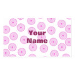 Pink Cupcake Pattern. Business Card Template