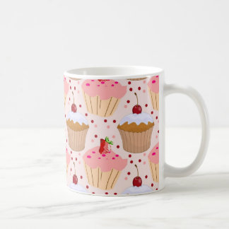 Pink Cupcake Pattern Coffee Mug