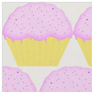 Pink Cupcake Pattern Fabric