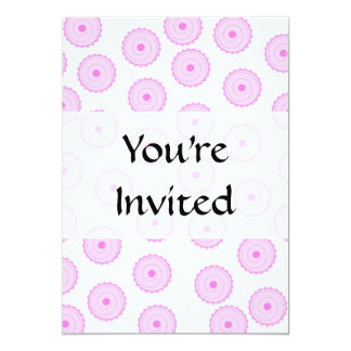 Pink Cupcake Pattern. 5x7 Paper Invitation Card