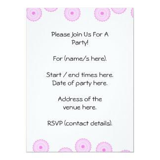 Pink Cupcake Pattern. 6.5x8.75 Paper Invitation Card