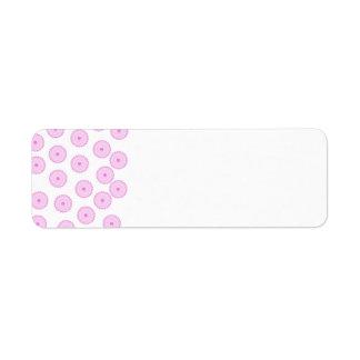 Pink Cupcake Pattern. Label