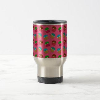 Pink cupcake pattern 15 oz stainless steel travel mug
