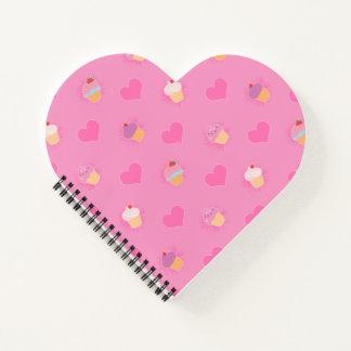 Pink Cupcake Pattern Notebook