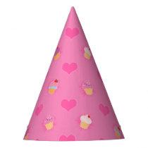 Pink Cupcake Pattern Party Hat