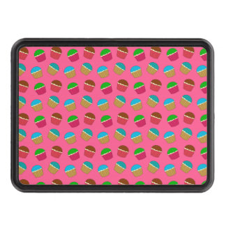 Pink cupcake pattern tow hitch covers