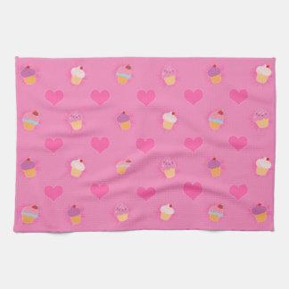 Pink Cupcake Pattern Towel