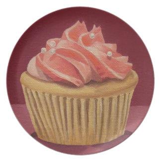 Pink Cupcake Plate