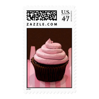 Pink Cupcake Postage