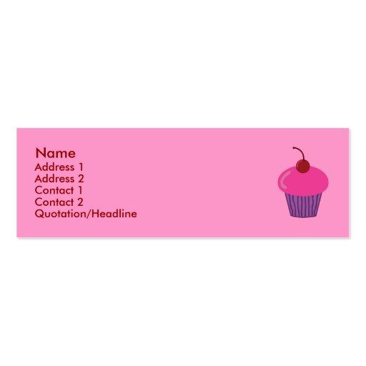 Cupcake Business Card Template Business Card Templates Page - Cupcake business card template