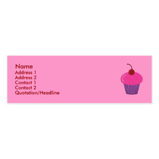 Pink Cupcake Profile Cards Mini Business Card