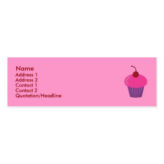 Pink Cupcake Profile Cards Mini Business Card