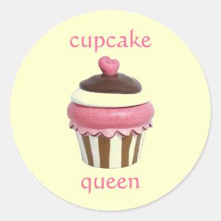 Pink cupcake queen stickers sheet
