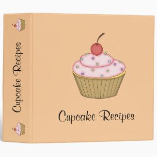 Pink Cupcake Recipe Binder