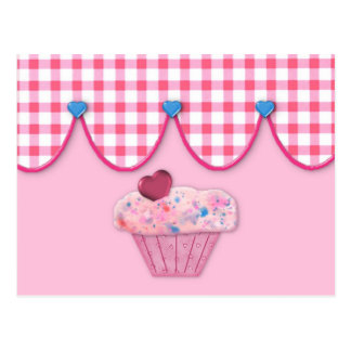 Pink Cupcake Recipe Card Post Cards