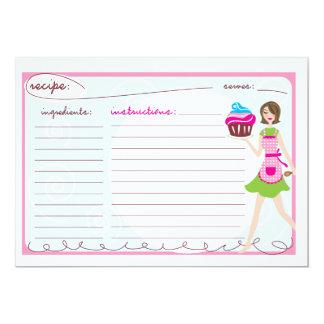 Pink Cupcake Recipe Cards