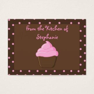 Pink Cupcake Recipe Gift Tags
