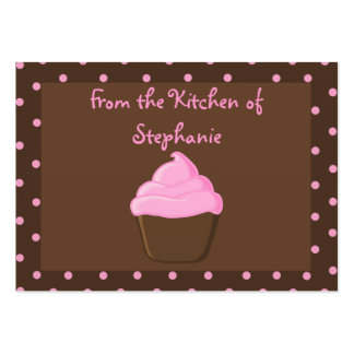 Pink Cupcake Recipe Gift Tags Large Business Cards (Pack Of 100)
