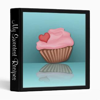 Pink Cupcake Reflection Personalized Recipe Binder